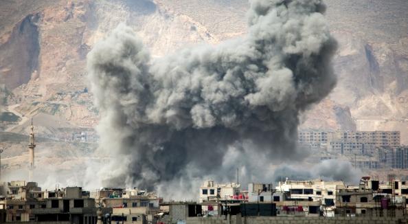 Raid su Damasco (Fonte: Syria Media Center)