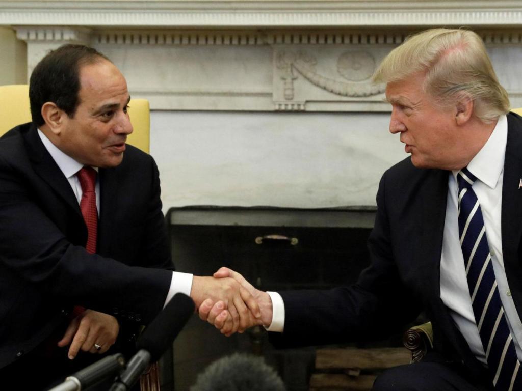 Trump incontra alla Casa Bianca Sisi (Foto: Reuters)