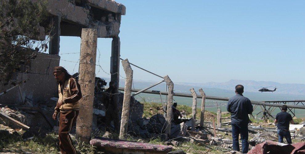 Gli effetti dei raid turchi a Rojava (Foto: AnfEnglish)