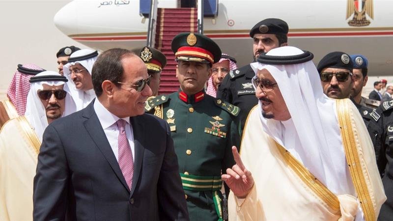 L'incontro di ieri tra al-Sisi e re Salman a Riyadh (Foto: Reuters)