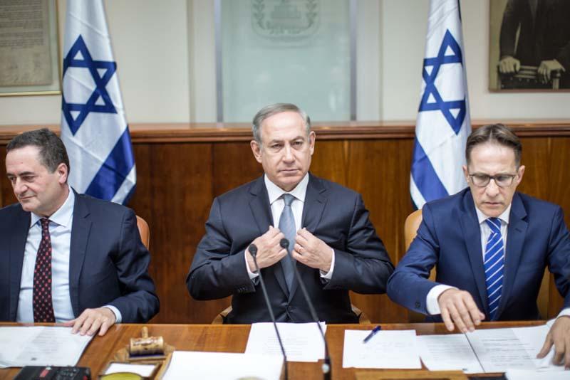 Al centro, il premier israeliano Benjamin Netanyahu