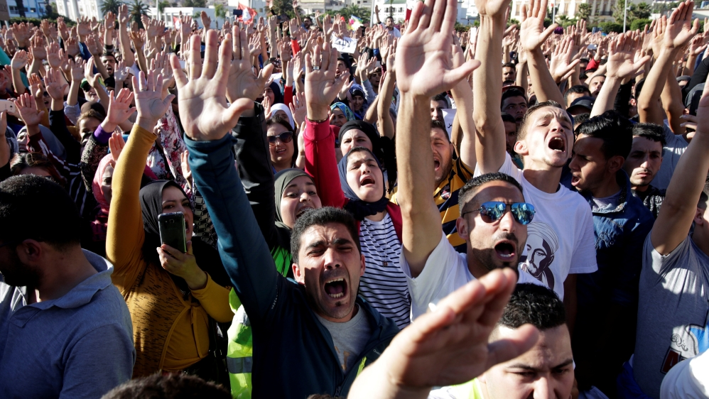 Manifestazioni nella regione marocchina di Rif (Fonte: al Jazeera)