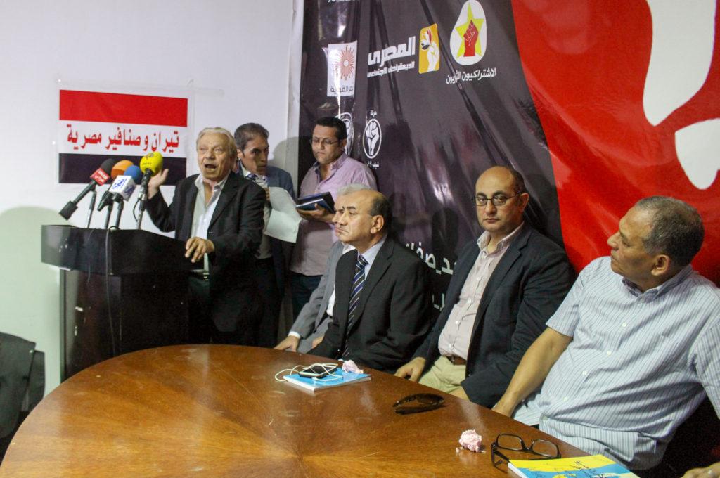 Alcuni gruppi politici egiziani contro la cessione di Tiran e Sanafir. (Fonte foto: Mada Masr)