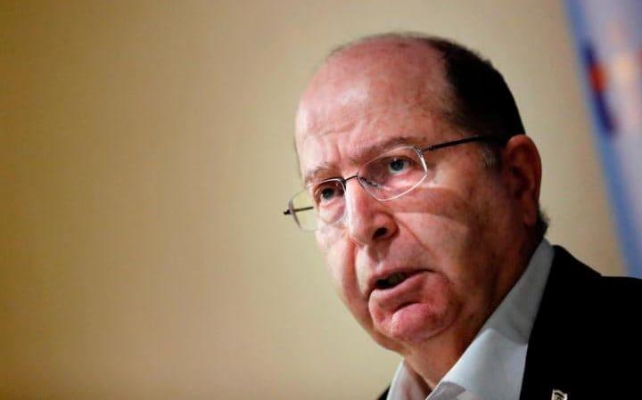 L'ex ministro israeliano della difesa Moshe Yaalon
