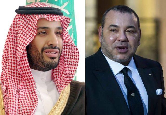 Il principe saudita Mohammed bin Salman e il re del Marocco Mohammed VI
