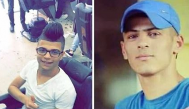 I due giovani palestinesi uccisi a Jenin, il 17enne Aws Mohammed Salama e il 21enne Sa'ad Hasan Salah