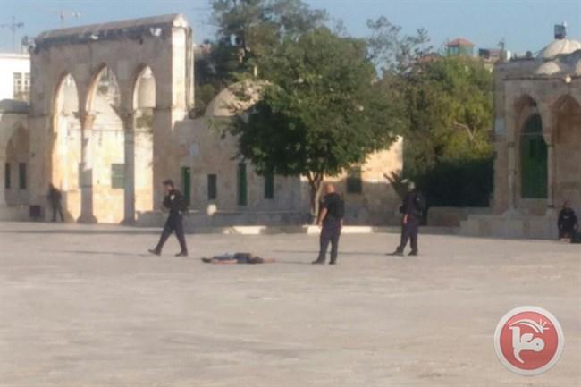 I tre palestinesi uccisi stamane vicino ad al-Aqsa. (Foto: Ma'an)