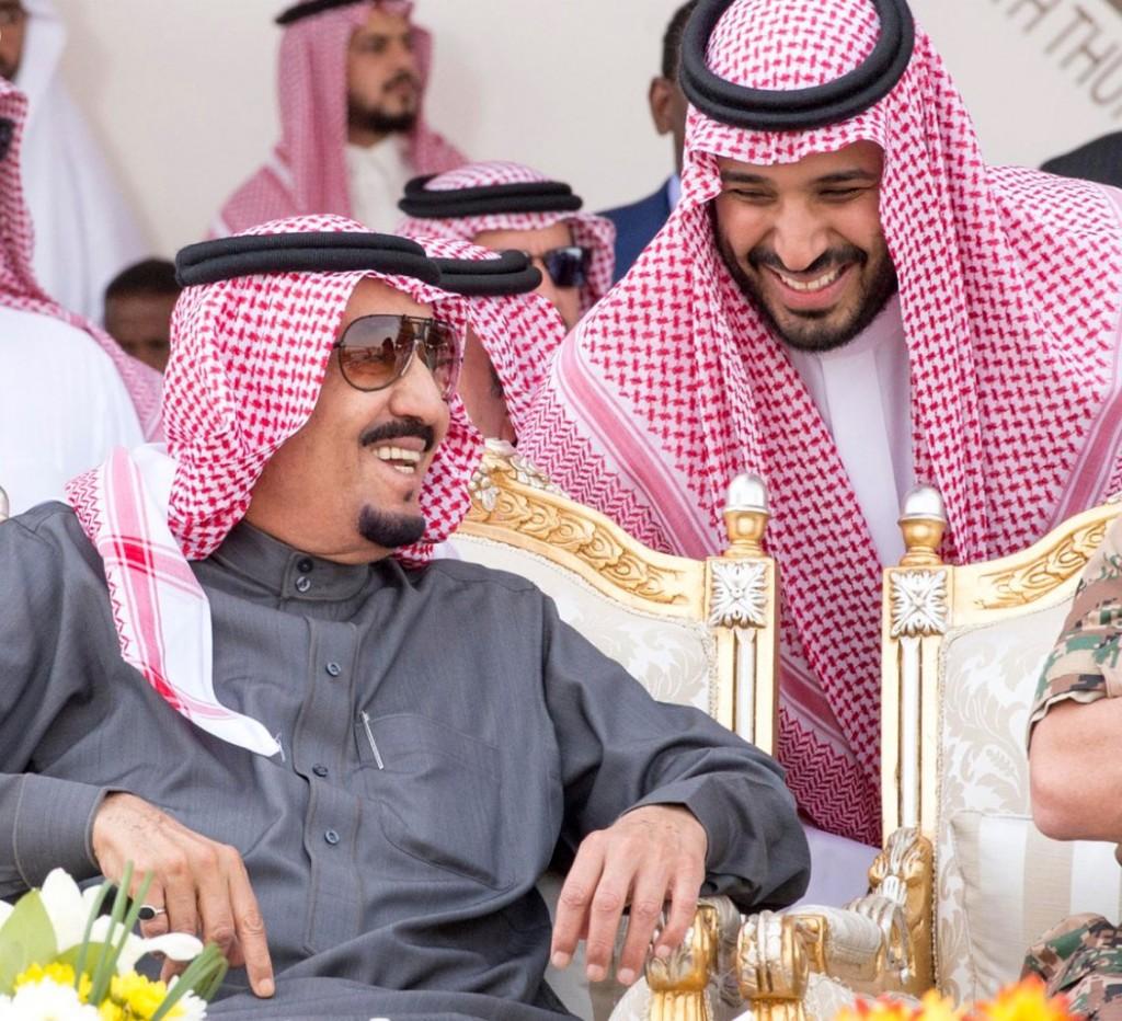 Re Salman e il figlio e principe ereditario Mohammed