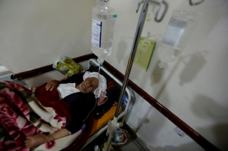 Infetto di colera, Sana'a. (Foto: REUTERS/Khaled Abdullah)