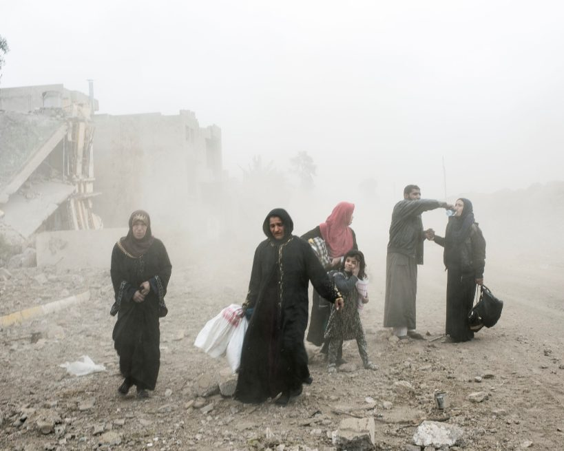Civili in fuga da Mosul (Foto: Amnesty International)
