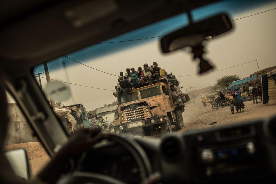 Migranti a Agadez, la via di transito più usata dal Niger alla Libia (Foto: Oxfam)