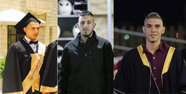 I tre palestinesi uccisi ieri tra Gerusalemme e Cisgiordania