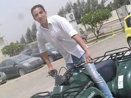 Il giovane egiziano Tharwat Sameh (Fonte: Twitter)