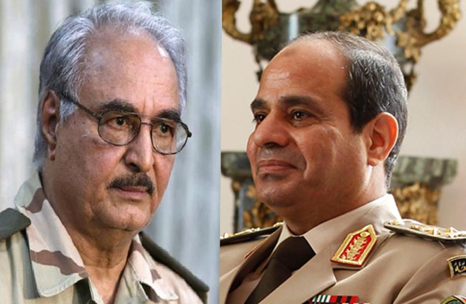 Khalifa Haftar e Abdel Fattah el Sisi