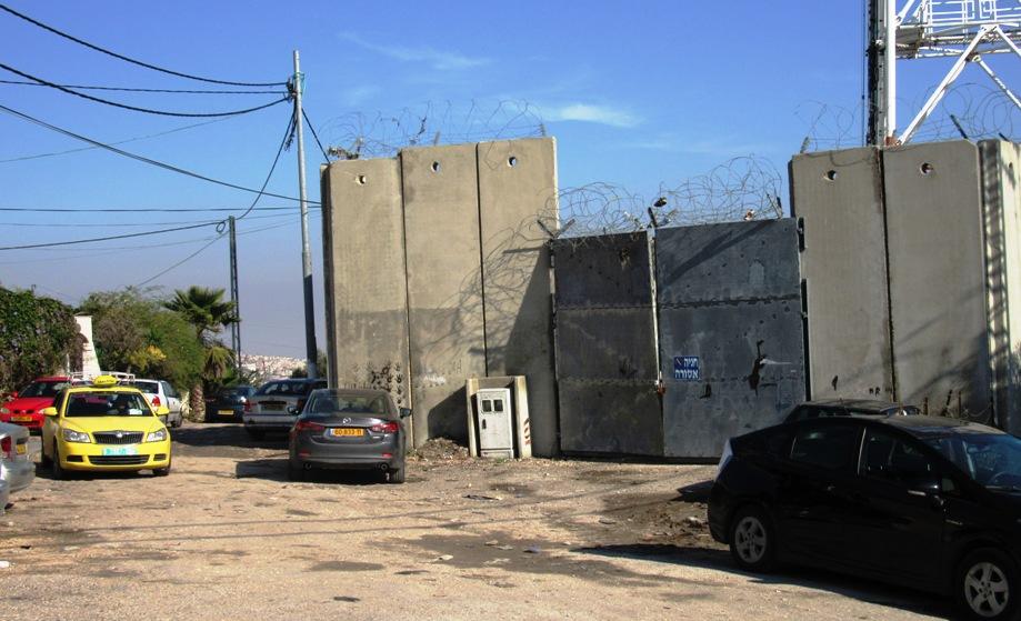 Il muro dentro Nabi Samuel (Foto: Nena News)
