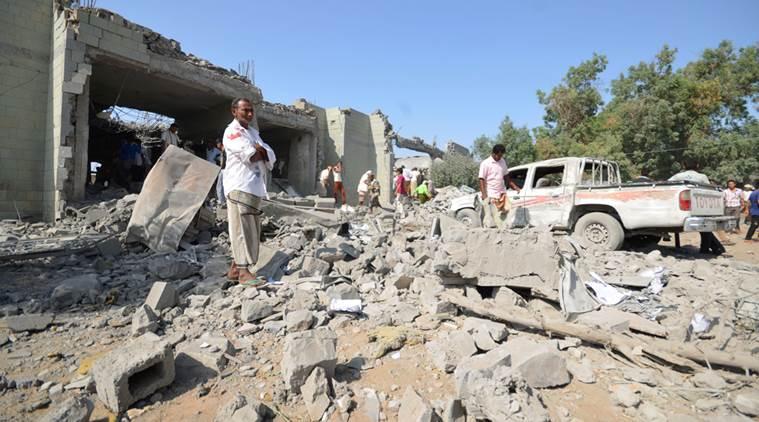 Il sito colpito ieri dalla coalizione saudita. (Foto: Reuters)