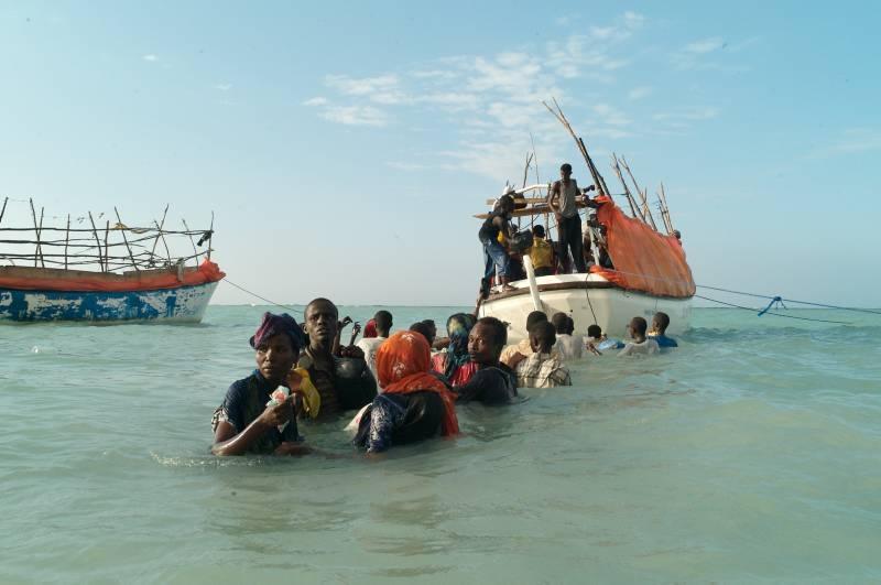 Migranti africani raggiungono lo Yemen
