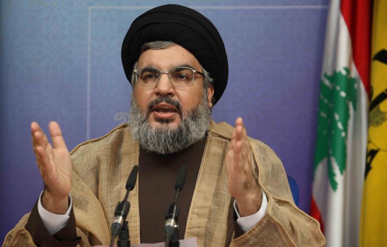 Il leader di Hezbollah, Nasrallah (Foto tratta dal sito di al-Akhbar. Autore Hassan Al-Zein)