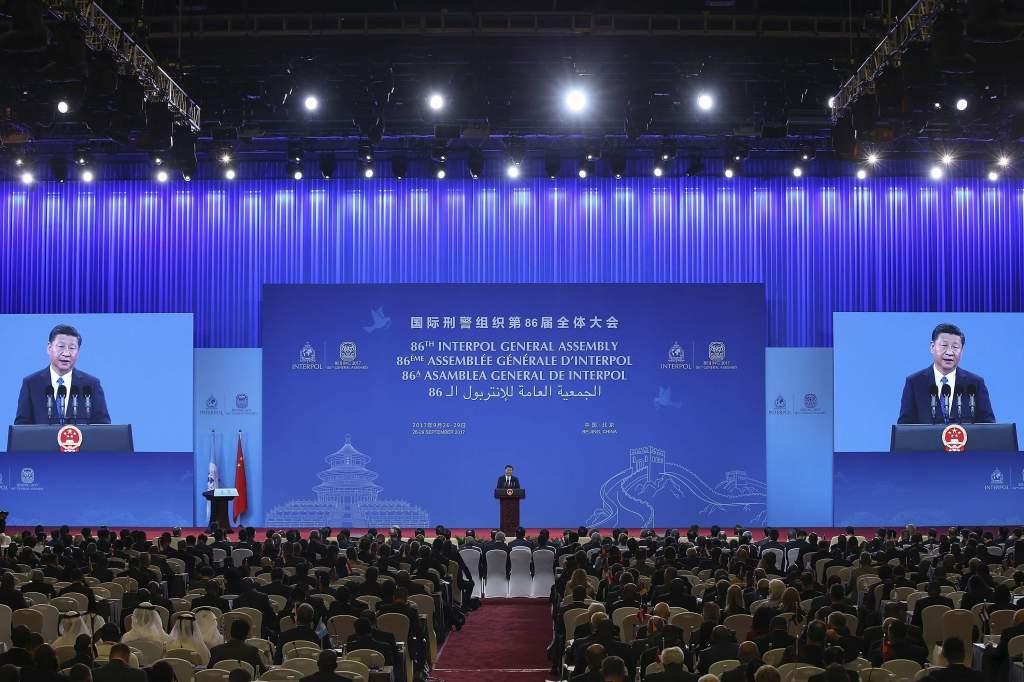 Il presidente cinese Xi Jinping all'Assemblea Generale dell'Interpol, Pechino