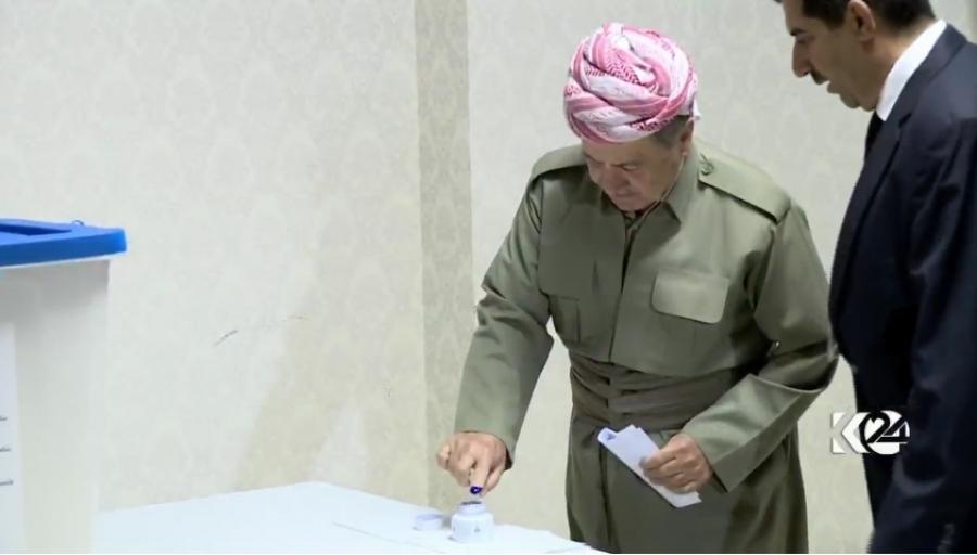 Il presidente del Krg vota al referendum sull'indipendenza  (Foto: Kurdistan24)