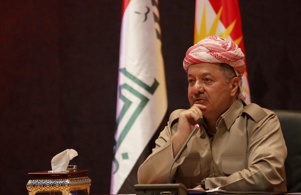 Il presidente del Kurdistan iracheno Masoud Barzani