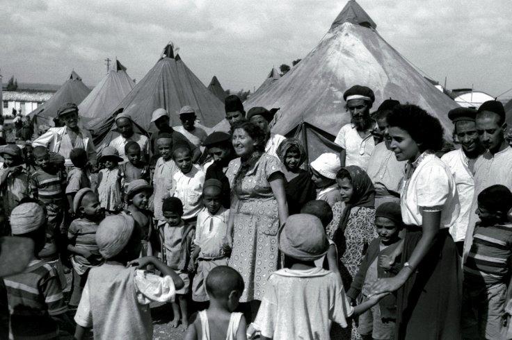 Immigrati ebrei yemeniti in un campo nel 1949. (Fonte foto: Reuters)