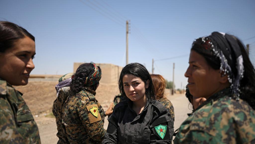 Combattenti delle Fds,  vicino a Raqqa, giugno 2017 (Foto: REUTERS/Rodi Said)