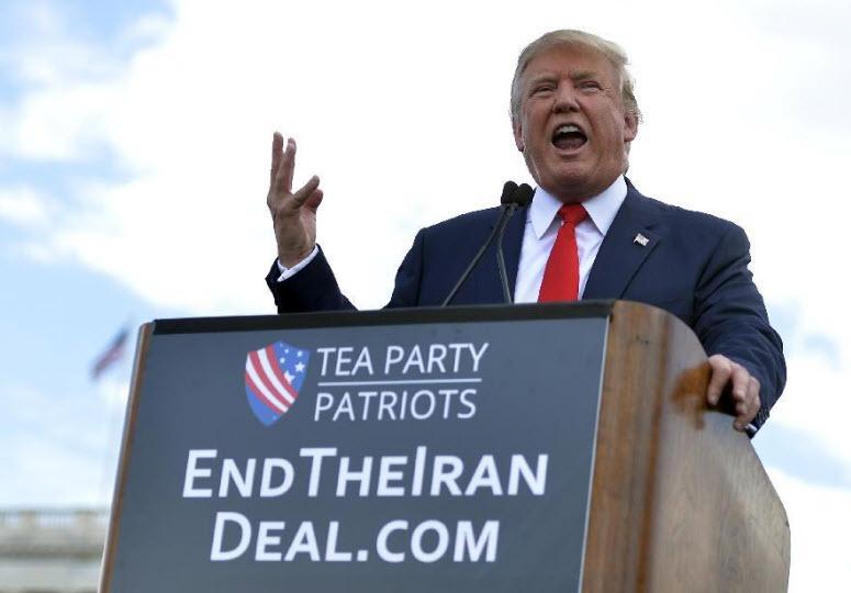 Trump durante la campagna elettorale
