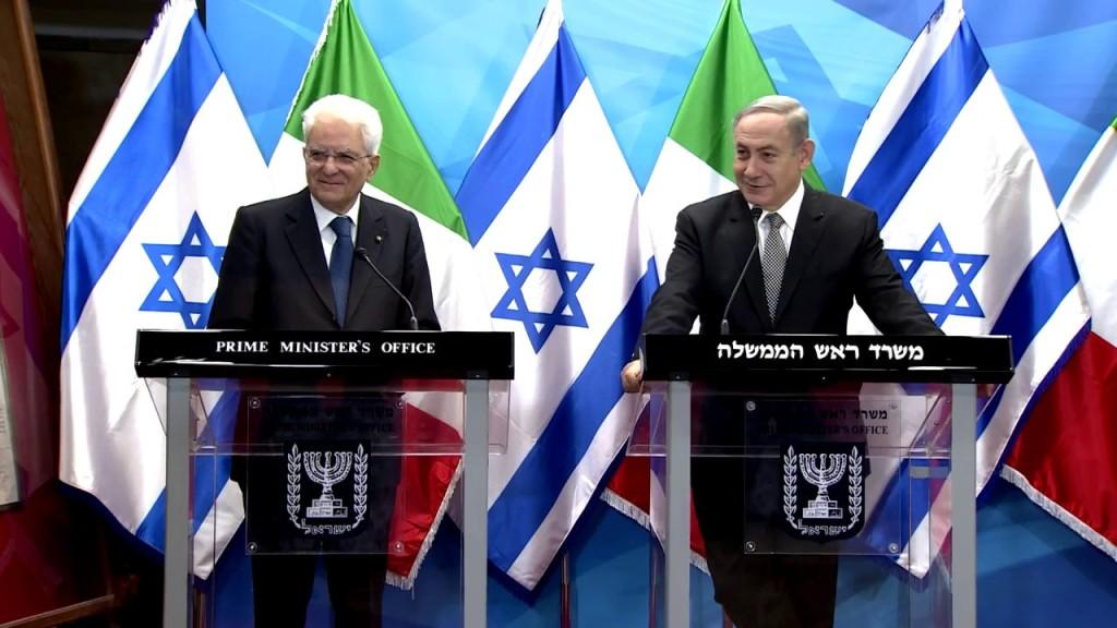 Il presidente italiano Mattarella incontra a Gerusalemme il premier israeliano Netanyahu. (Screenshot da You Tube)