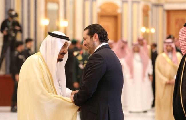 Re Salman con l'ex premier libanese Hariri (Foto: The Daily Star/Dalati&Nohra)