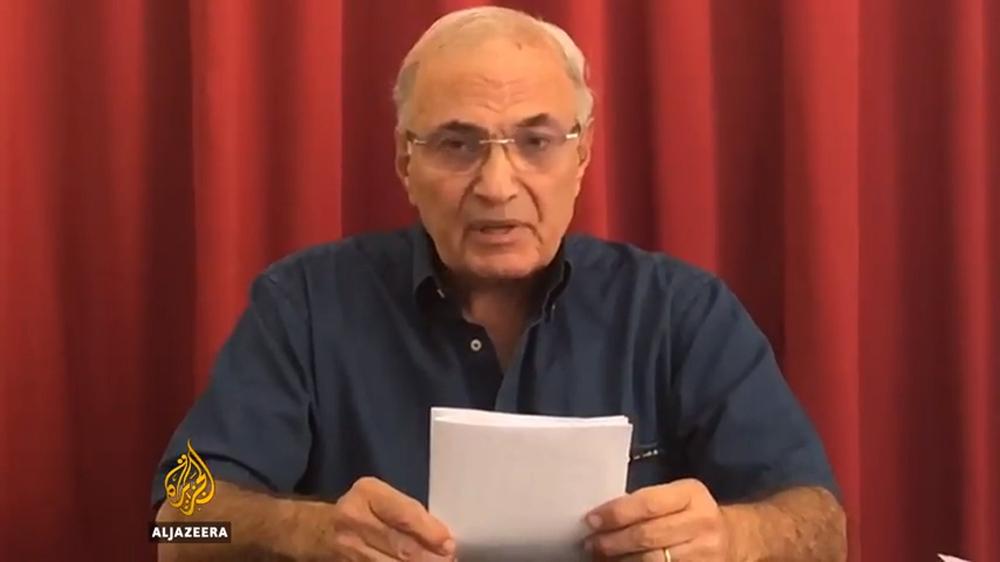 L'ex primo ministro egiziano Ahmed Shafiq nel video inviato ad al Jazeera