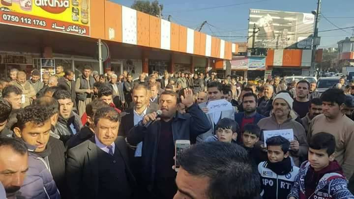 Protesta di ieri a Sulaymaniya. (Fonte foto: Twitter)