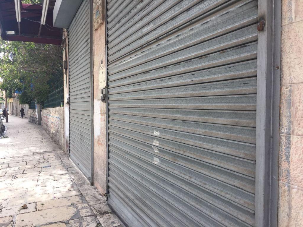 Gerusalemme est, negozi chiusi. (Foto: Michele Giorgio)