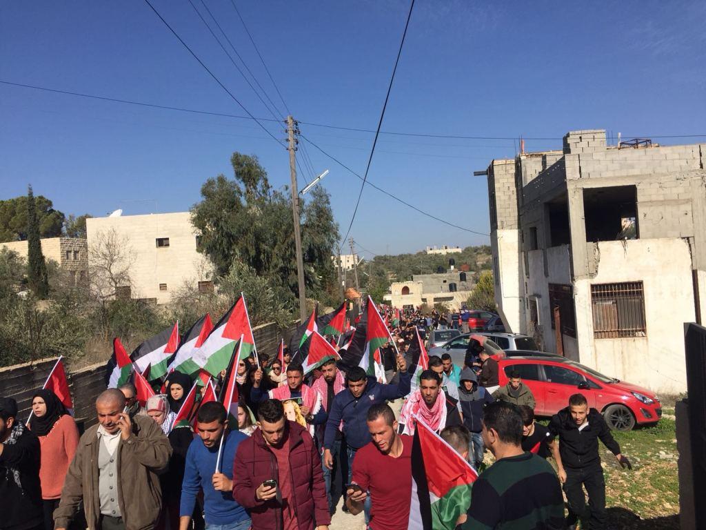 La manifestazione a Nabi Saleh per Ahed Tamimi (Foto: Michele Giorgio/Nena News)
