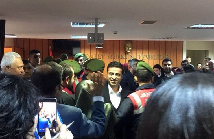 Selahattin Demirtas ieri in tribunale (Foto: Rudaw)