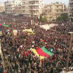 SIRIA. Afrin in piazza contro l'offensiva turca