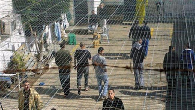 Prigionieri palestinesi nel carcere israeliano di Megiddo (Fonte: Press Tv)