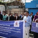 GAZA. Giornalisti in piazza contro Facebook