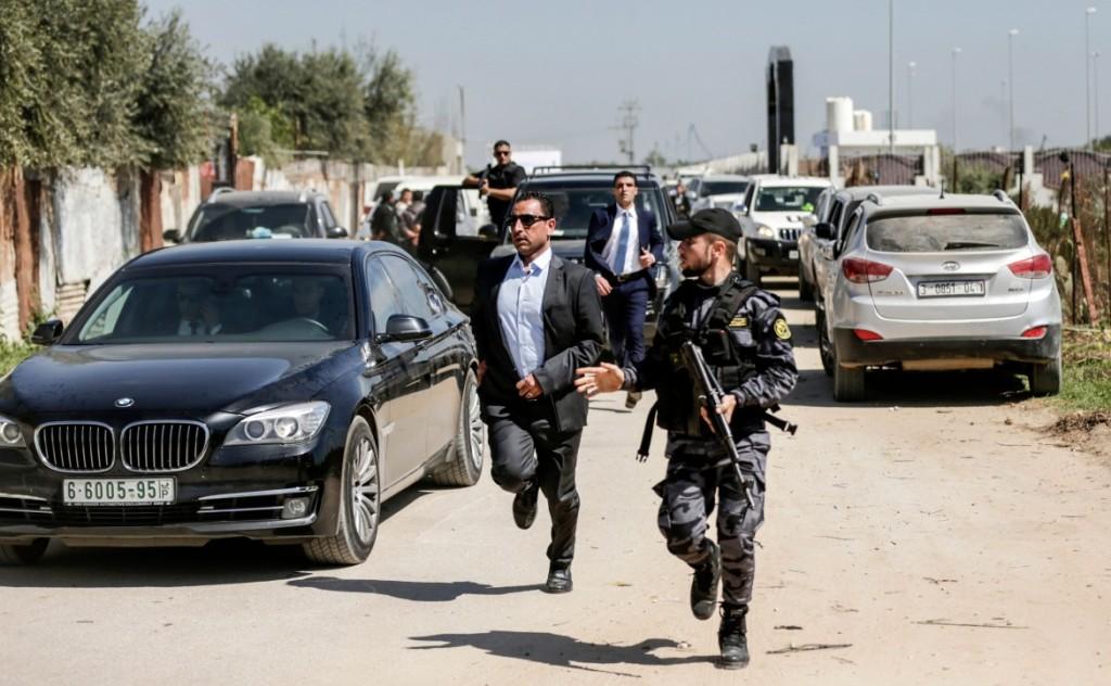 Fasi successive all'attentato di ieri avvenuta nella Striscia di Gaza