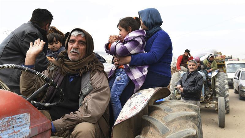 Civili ad Afrin (Foto: Sana)