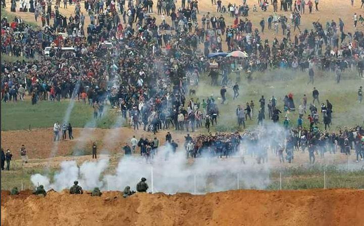 Marcia del Ritorno a Gaza (Foto: Twitter)