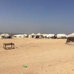 Al confine tra Gaza e Israele: il campo di tende di Abu Safieh