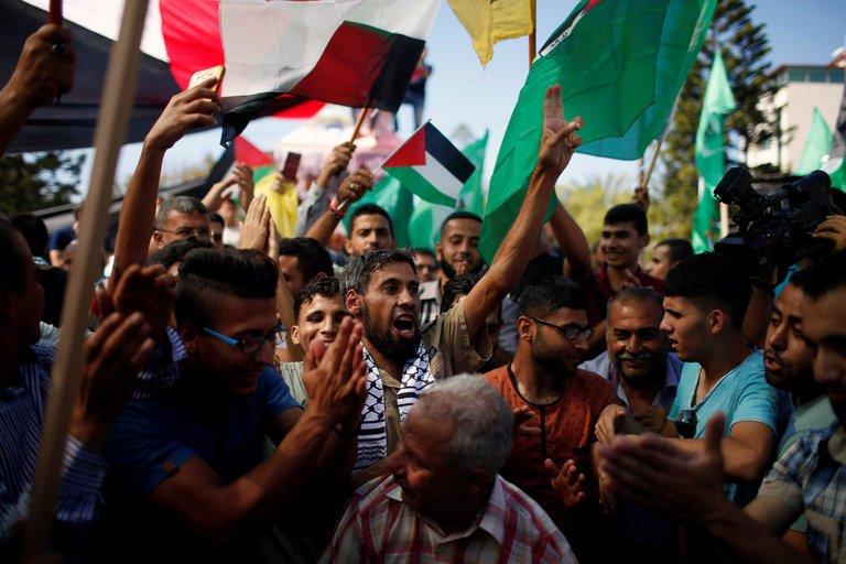 Manifestazione di protesta a Gaza. (Suhaib Salem/Reuters)