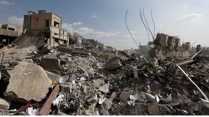 Il centro di ricerche di Barzeh, fuori Damasco. [Foto: Omar Sanadiki/Reuters]