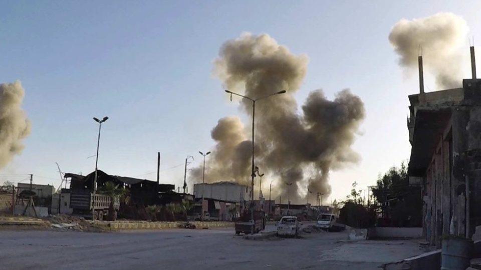 Il sito di Barzeh colpito dall'attacco Usa
