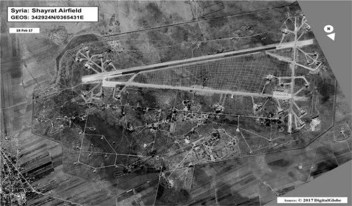 La base siriana di Shayrat colpita un anno fa dai missili statunitensi