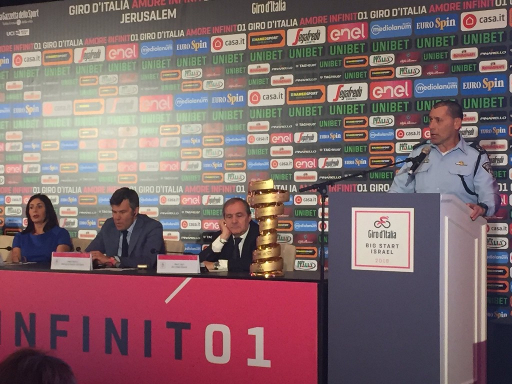 La presentazione del Giro d'Italia a Gerusalemme