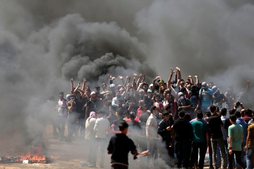 Le manifestazioni di proteste a Gaza