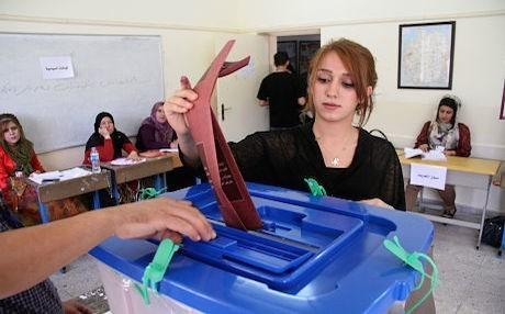Le urne irachene, sabato scorso (Foto: Rudaw)