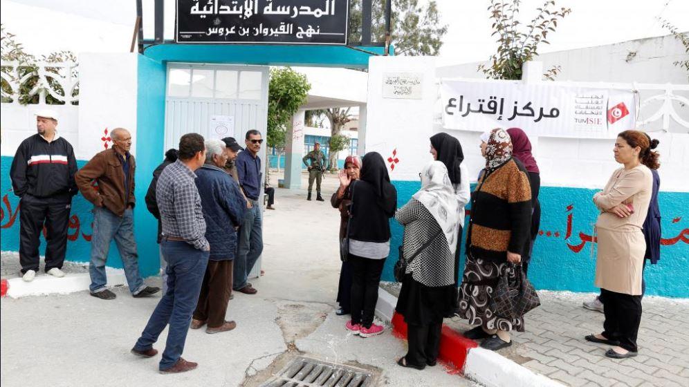 Un seggio in Tunisia (Foto: Twitter)